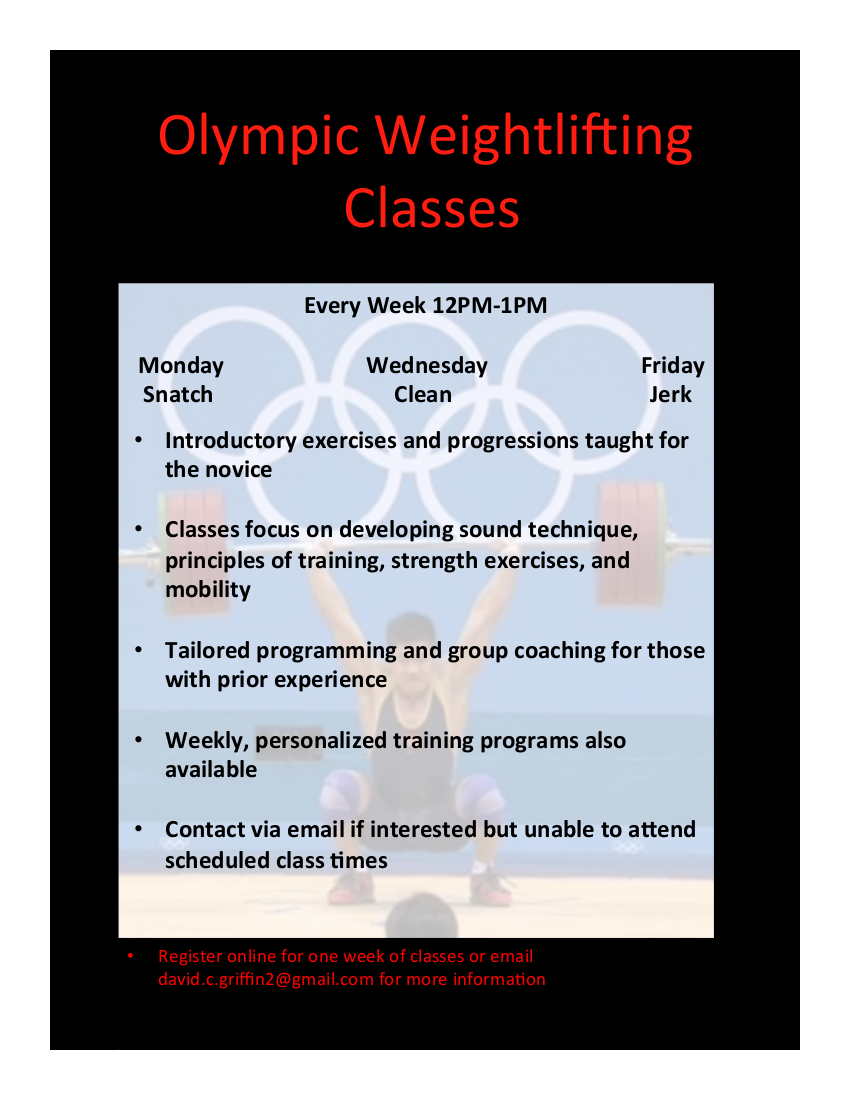david griffin Olympic Weightlifting Classes
